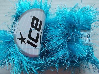 (Ice Yarns Long Eyelash yarn, Turquoise, lot of 2 (38 yds ea))