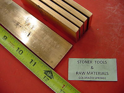 5 Pieces 14x 1-12 C110 Copper Bar 12 Long Solid Flat .25 Bus Bar Stock H02