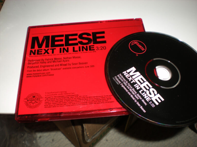 Meese Next In Line CD Single one track