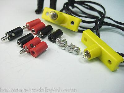 2 x Original LGB Innenbeleuchtung mit Steckern und Buchsen