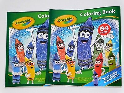 CRAYOLA 64 Page Crayon Crew Coloring Book - Lot of 2 Coloring Books