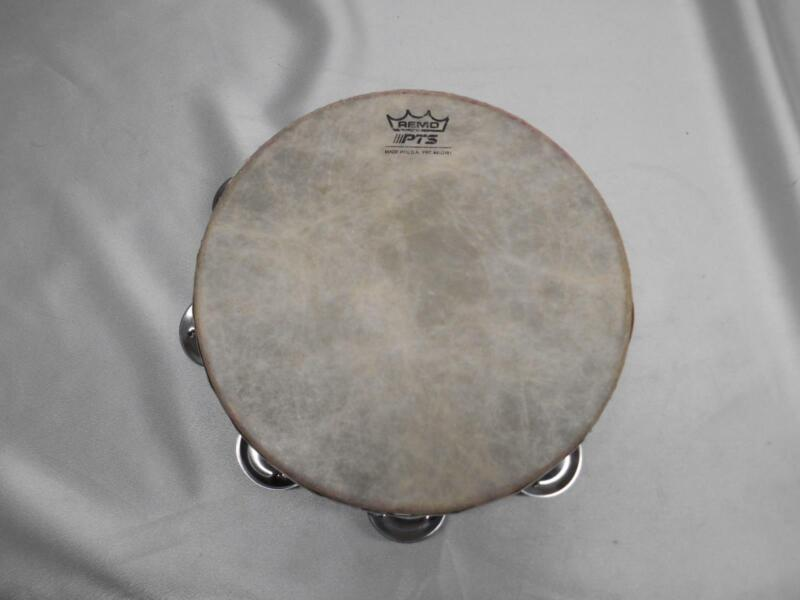 Old Vtg REMO PTS TAMBOURINE USA PERCUSSION INSTRUMENT MUSICAL MUSIC Hand Gear