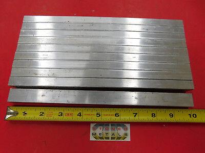 10 Pieces 12 X 34 Aluminum 6061 Flat Bar 10 Long Solid New Mill Stock .50