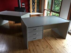 FREE…..Three pale grey office desks…FREE!!!! Soldiers Point Port Stephens Area Preview