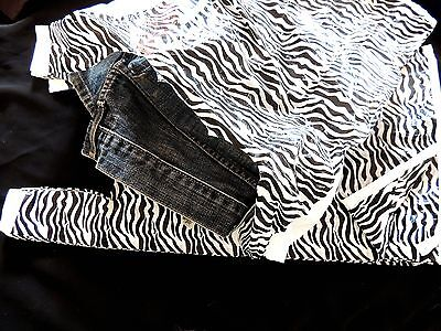 50 Zebra Plastic T-shirt Bags 11 X21 Wholesale Animal Whandle Retail Gift Bags
