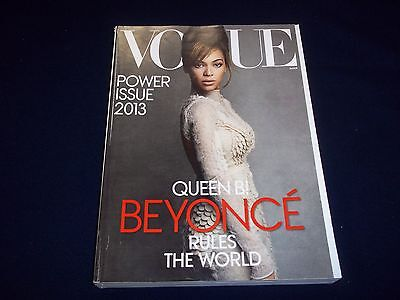 2013 MARCH VOGUE MAGAZINE - BEYONCE QUEEN B - BEAUTIFUL FASHION ISSUE - D 1700