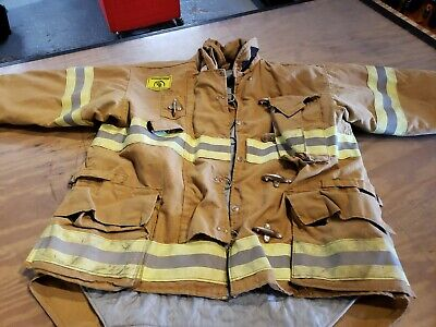 Firefighter Turnout Jacket Coat Length Morning Pride Custom Fit Used 4634