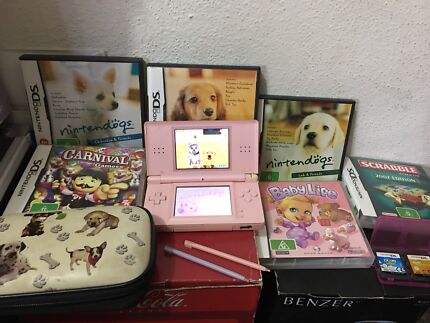Pink DS Lite Console with 8 Games and Accessories