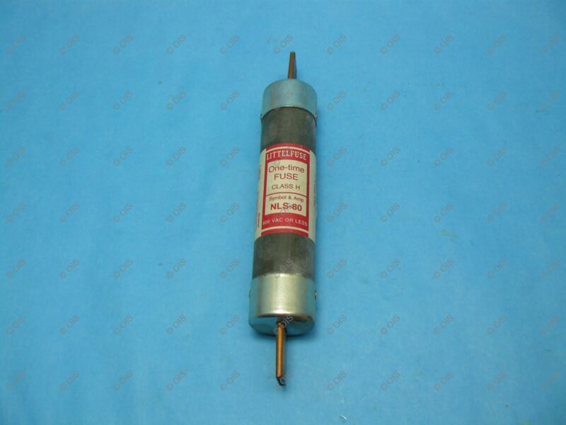 "Littelfuse NLS80 ""One-Time"" Fuse Class H 80 Amps 600VAC New"