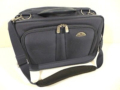 Samsonite Classic Business Laptop Messenger Bag Notebook carrying case Blue