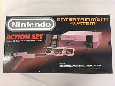 Nintendo Entertainment System NES Gray Console Action Set Complete CIB Tested