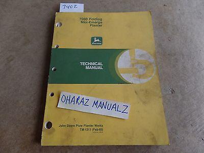 John Deere 7000 Folding Maxemerge Planter Technical Manual Tm-1211