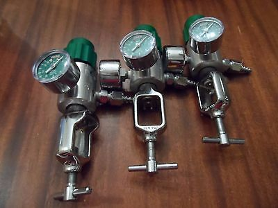 Lot Of 3 Used Medical Oxygen Regulator Veriflo Cga-870 19600624