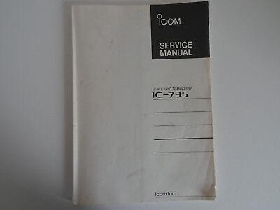 (ICOM-735 (GENUINE PRINT SERVICE MANUAL ONLY)...........RADIO_TRADER_IRELAND.)