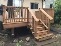 Deck fence and railings