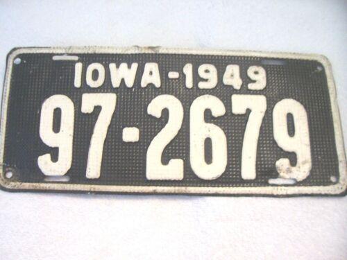1949 IOWA LICENSE PLATE  # 97-2679