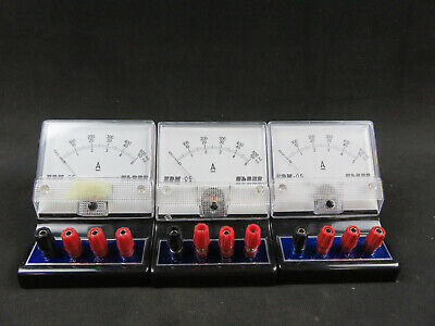 Lot Of 3 Globe D.c Ampmilliamp Meter Model Edm-05 Vintage