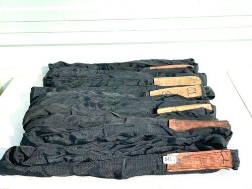 SLING MASTER POLYESTER 8FT BLACK SPAN SET STAGE RIGGING SLING #6464 (LOT OF 6)