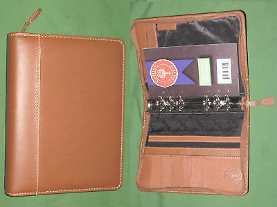 Compact 1.0 Brown Leather Collins Planner Binder Organizer Franklin Covey