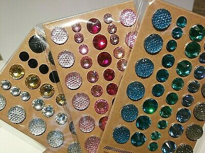 HUGE LOT 90 sheets 3510 ADHESIVE RHINESTONES Glitter Crystals Gems Jewels 5-10mm Jewels Adhesive Rhinestones