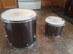 CB Drums with snare, hardware, cymbals and snare.