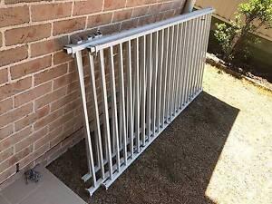Aluminium white flat top fence Miranda Sutherland Area Preview