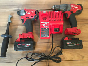 Milwaukee Fuel. Hammer drill driver and impact driver set