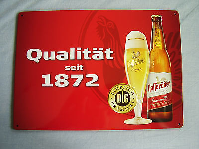Blechschild Hasseröder Bier seit 1872 mit dem Auerhahn Premium Pils