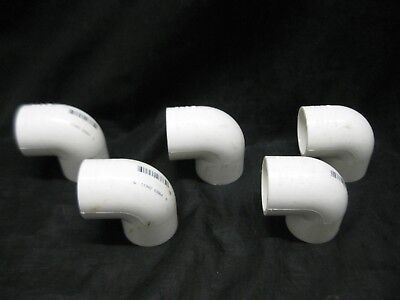 1 Charlotte Pvc Schedule 40 90 Degree Elbow Pipe Fitting Sxs Lot Of 5
