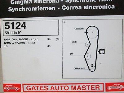 LADA Diva Oka Forma Samara Vaz Kama GATES Cambelt Timing Belt 5124