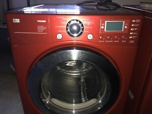 LG top end washer and dryer with pedestals