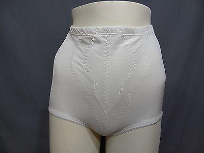 (Playtex high waist Brief Firm Control Shaper satin underwear size XL white)