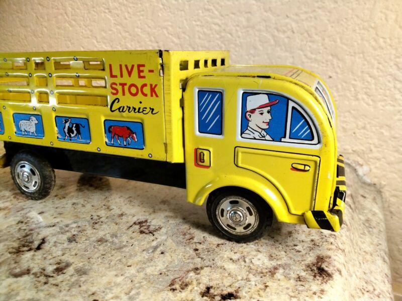 Vintage Tin Friction Truck Japan