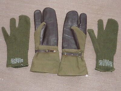 Trigger Finger Mittens w Wool Liner Medium Olive Drab Tan palms ARMEE France D7 Armee Mitt