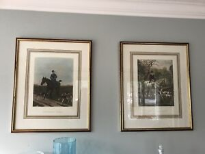 Large Framed Horse Paintings