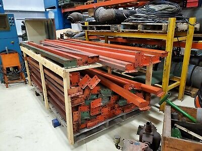 8ft Pallet Racking Beams - Good Used Condition Teardrop Connection