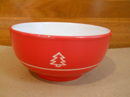 NWT BIA Red Christmas Tree Cereal Bowl