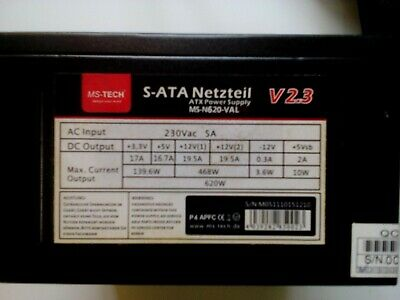 MS-Tech - S-ATA Netzteil V 2.3 - 620 Watt