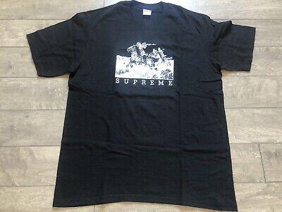 2019 Supreme Riders Tee Shirt Black Sz. L