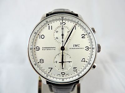 IWC Portuguese Chronograph Auto  Ref. IW371404 SS Case 18K Hands Box & Papers