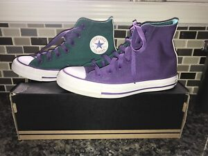 Converse teal and purple size 5
