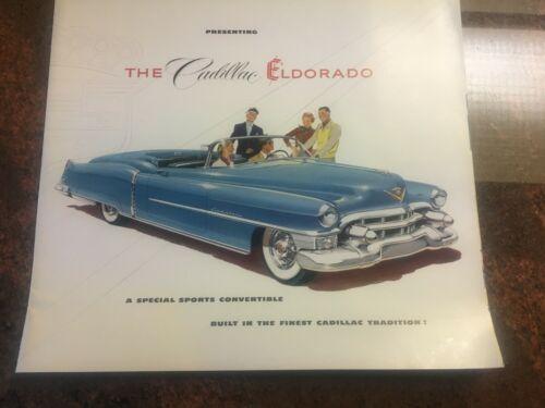 1953 Cadillac Eldorado Dealers Brochure