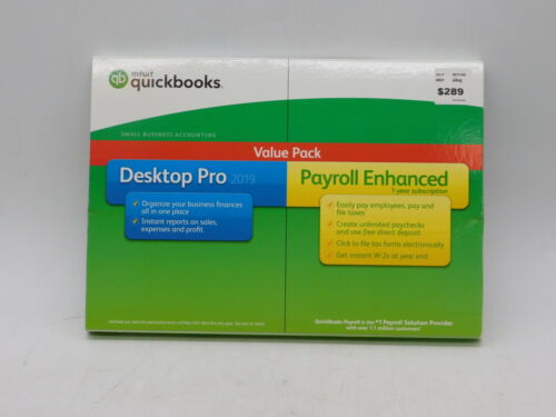 Intuit QuickBooks Desktop Pro 2019 With Payroll Enhanced Value pack