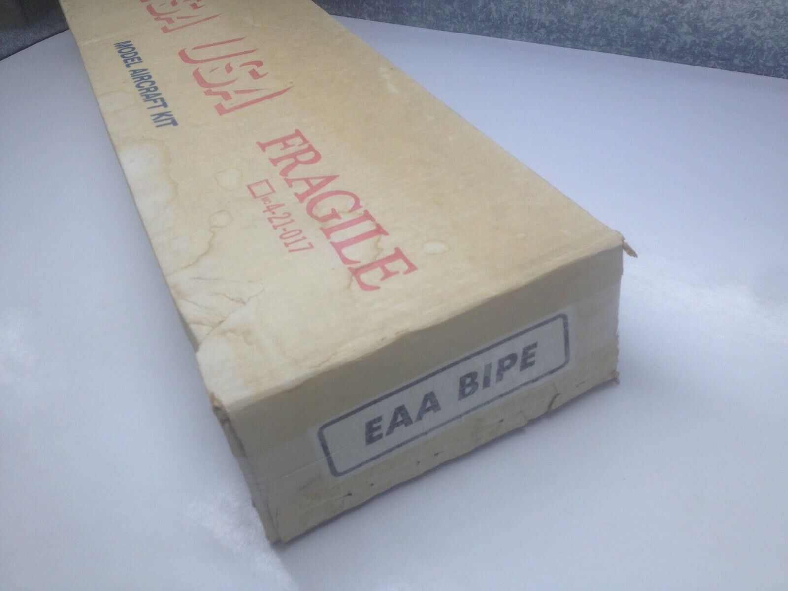 "Vintage Balsa USA EAA BIPE 60"" Wingspan R/C biplane"