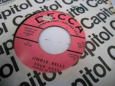 Four Aces Jingle Bells/The CHristmas Song promo 45 RPM Decca VG+ ()