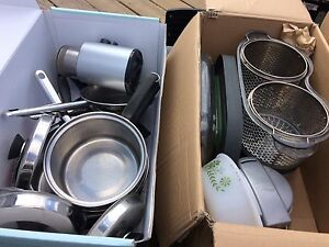 All your pots & pans, steamer, slow cooker, etc