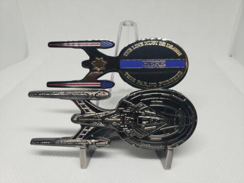Star Trek Enterprise E Police Thin Blue Line Challenge Coin