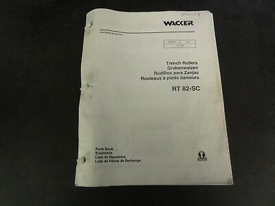 Wacker Rt82-sc Trench Rollers Parts Book Manual