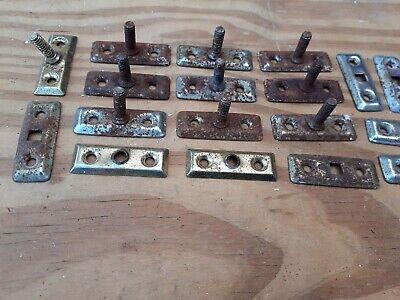 Casement window Stay Lock Post Bolts Job Lot 10 rusty with screw thread