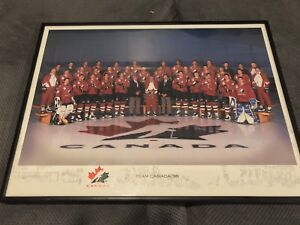 Team Canada hockey framed picture